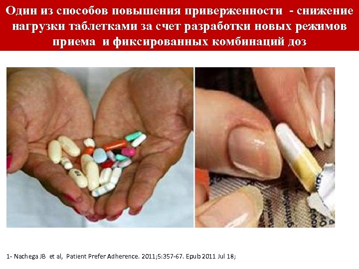 Один из способов повышения приверженности - снижение нагрузки таблетками за счет разработки новых режимов