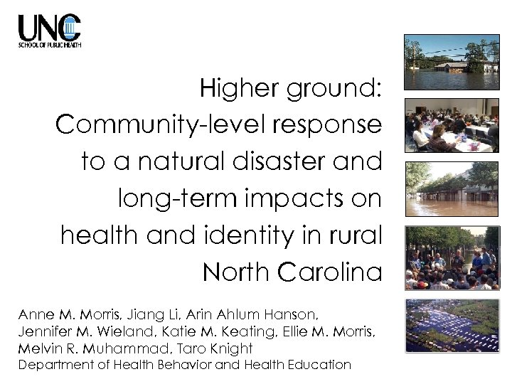 Higher ground: Community-level response to a natural disaster and long-term impacts on health and