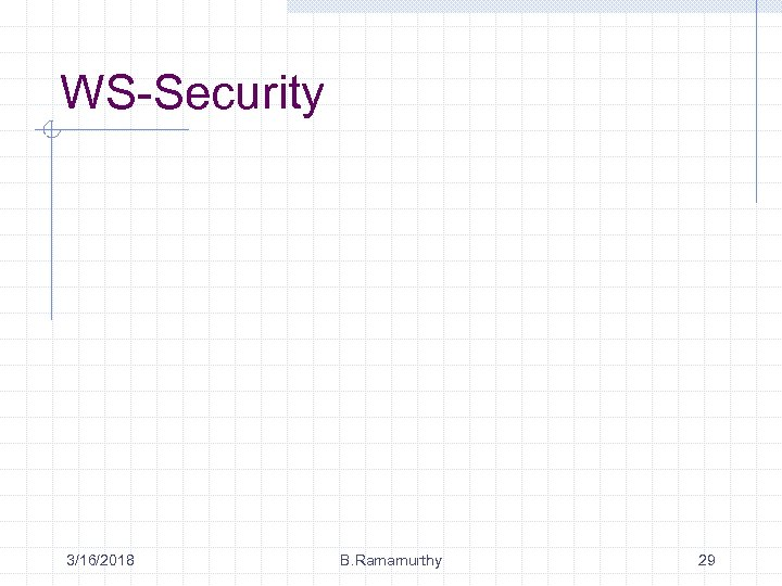 WS-Security 3/16/2018 B. Ramamurthy 29