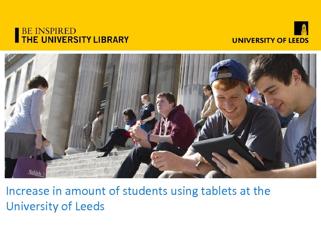 Increase in amount of students using tablets at the University of Leeds