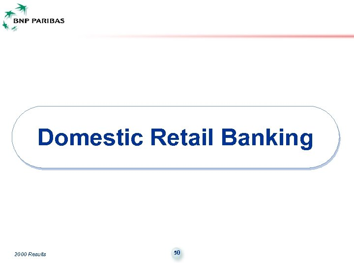Domestic Retail Banking 2000 Results 50