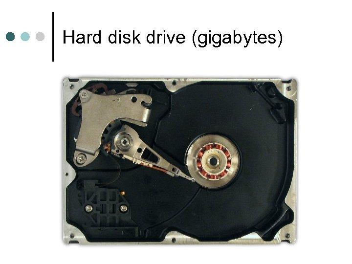 Hard disk drive (gigabytes)