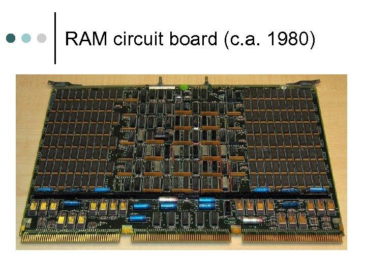 RAM circuit board (c. a. 1980)