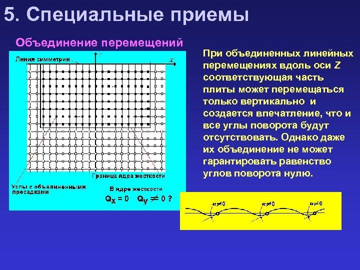 5. Специальные приемы Объединение перемещений При объединенных линейных перемещениях вдоль оси Z соответствующая часть