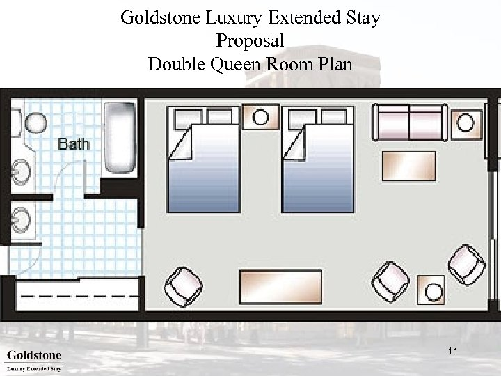 Goldstone Luxury Extended Stay Proposal Double Queen Room Plan 11