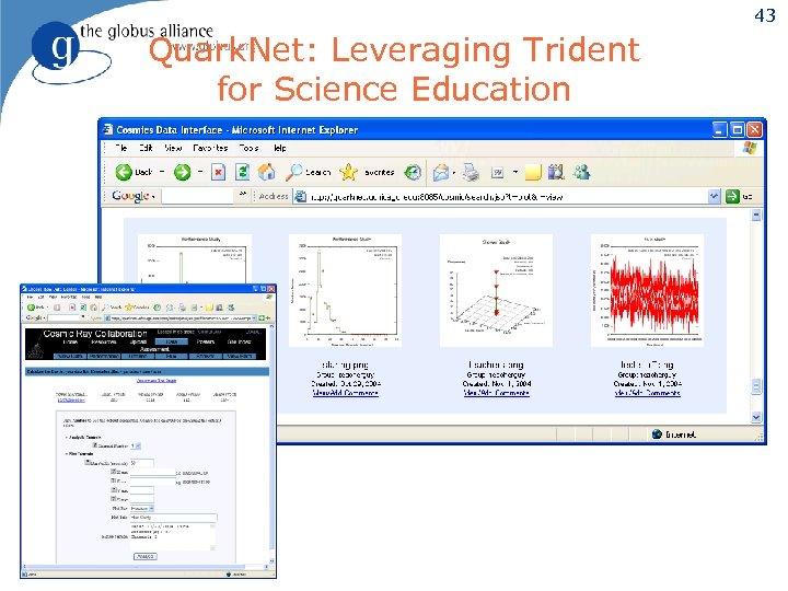 43 Quark. Net: Leveraging Trident for Science Education
