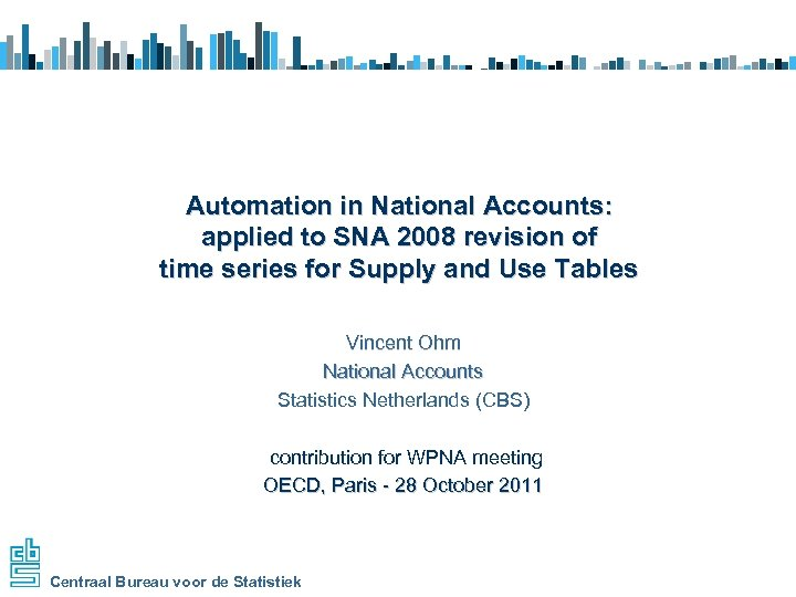Automation in National Accounts: applied to SNA 2008 revision of time series for Supply