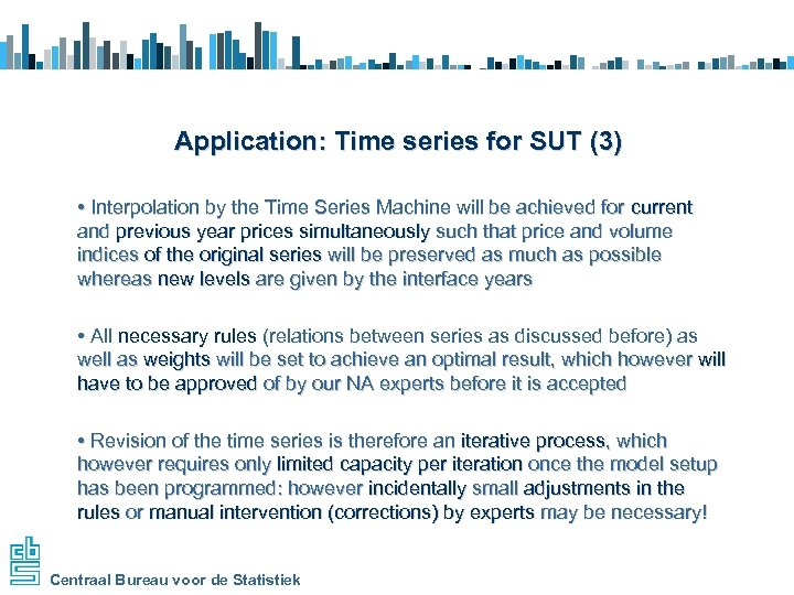 Application: Time series for SUT (3) • Interpolation by the Time Series Machine will
