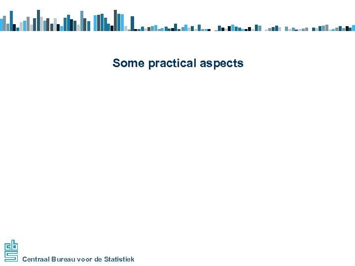 Some practical aspects Centraal Bureau voor de Statistiek