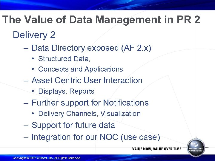 The Value of Data Management in PR 2 Delivery 2 – Data Directory exposed