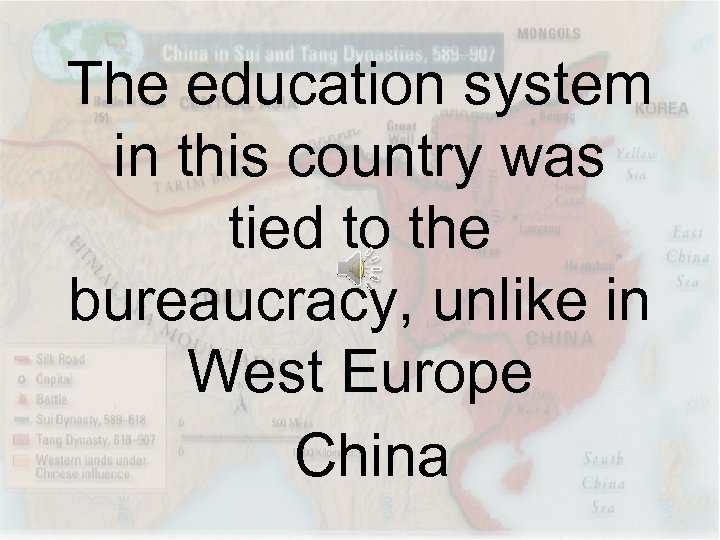 The education system in this country was tied to the bureaucracy, unlike in West