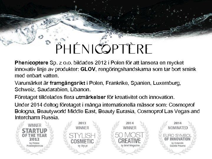 Phenicoptere Sp. z o. o. bildades 2012 i Polen för att lansera en mycket