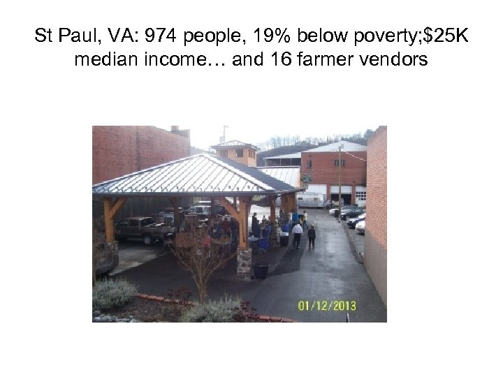 St Paul, VA: 974 people, 19% below poverty; $25 K median income… and 16
