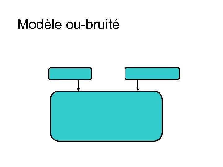 Modèle ou-bruité