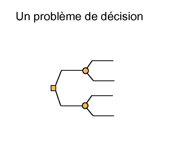 Un problème de décision