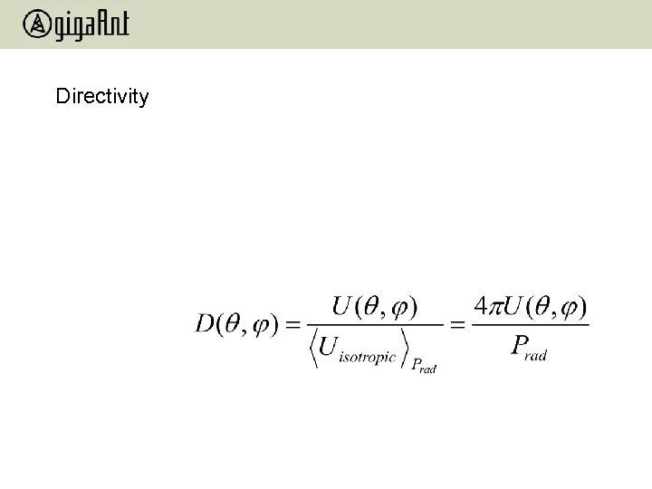 Directivity