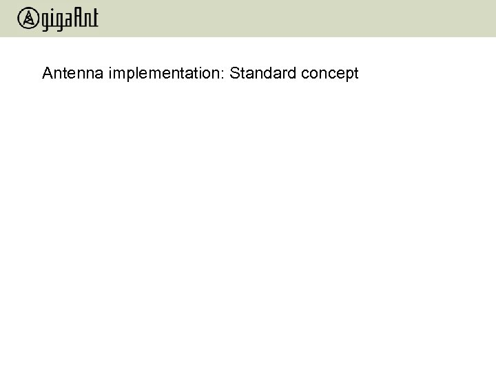 Antenna implementation: Standard concept