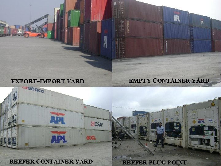 EXPORT-IMPORT YARD REEFER CONTAINER YARD EMPTY CONTAINER YARD REEFER PLUG POINT 7