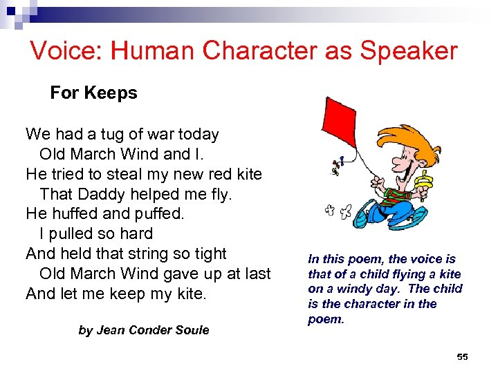 Voice: Human Character as Speaker For Keeps We had a tug of war today