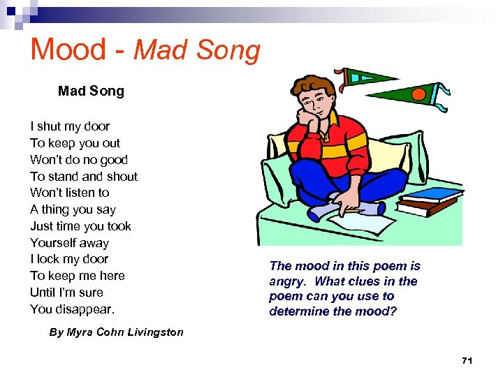 Mood - Mad Song I shut my door To keep you out Won't do