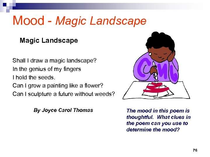 Mood - Magic Landscape Shall I draw a magic landscape? In the genius of