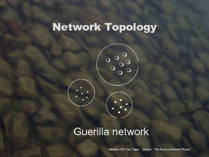 "Network Topology Guerilla network Blackhat 2001 Las Vegas, Nazario, ""The Future of Internet Worms"""