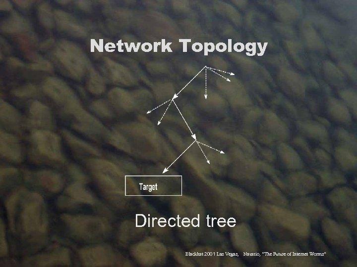"Network Topology Directed tree Blackhat 2001 Las Vegas, Nazario, ""The Future of Internet Worms"""
