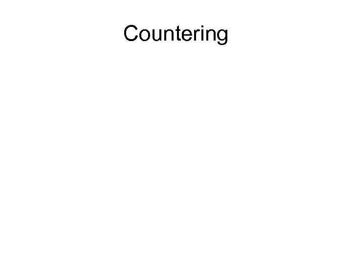 Countering