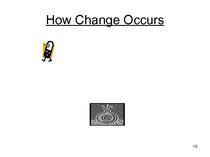 How Change Occurs 15