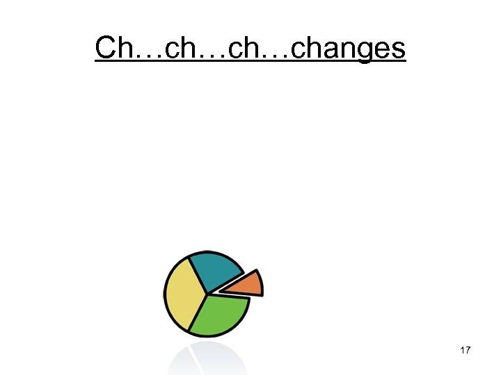 Ch…ch…ch…changes 17