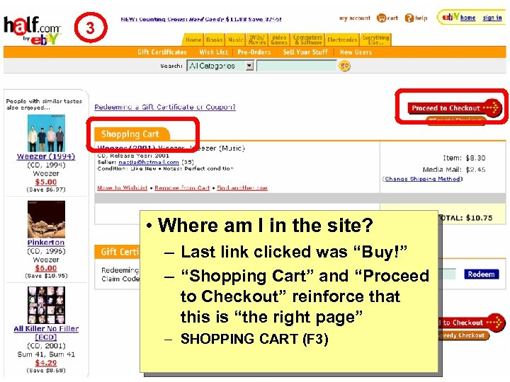 """3 • Where am I in the site? – Last link clicked was """"Buy!"""""""