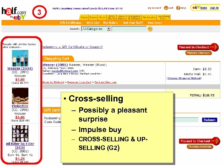 3 • Cross-selling – Possibly a pleasant surprise – Impulse buy – CROSS-SELLING &