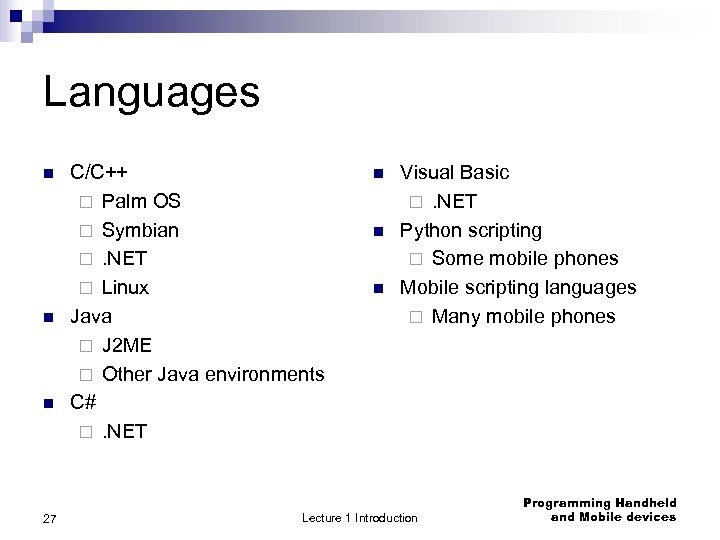 Programim Mobile Leksion Tema Programimi Mobile në Java