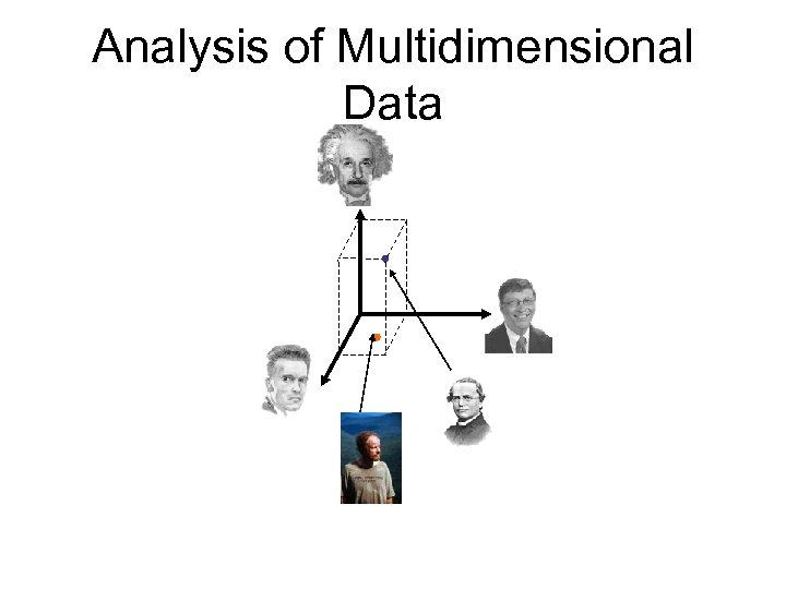 Analysis of Multidimensional Data
