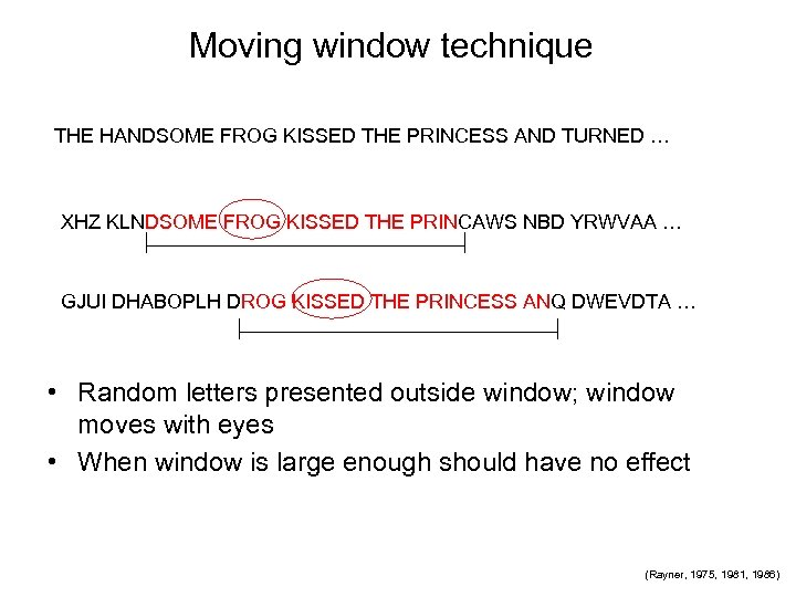 Moving window technique THE HANDSOME FROG KISSED THE PRINCESS AND TURNED … XHZ KLNDSOME
