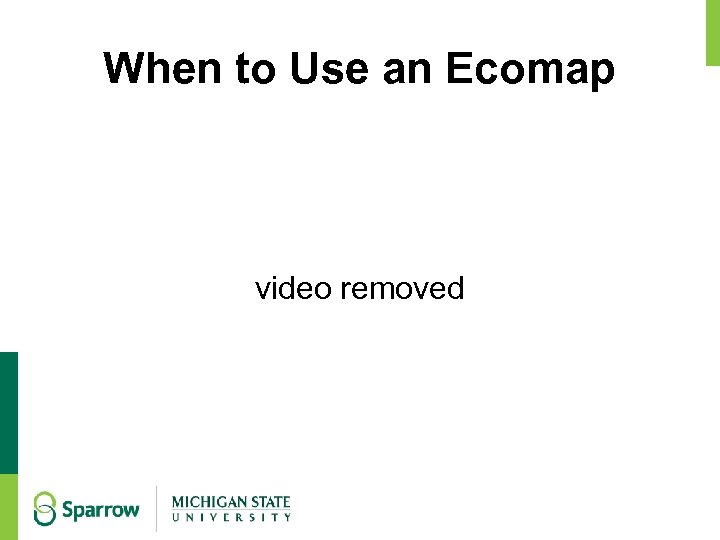 When to Use an Ecomap video removed