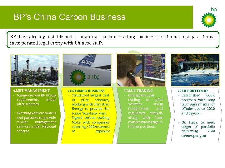 BP's China Carbon Business BP has already established a material carbon trading business in