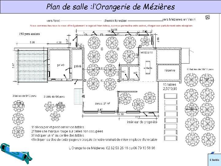 Plan de salle : l'Orangerie de Mézières S Beldio