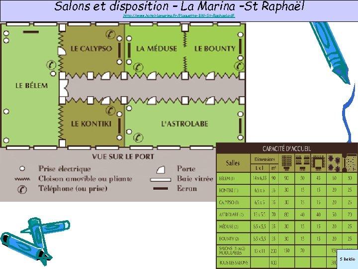 Salons et disposition – La Marina –St Raphaël http: //www. hotel-lamarina. fr/Plaquette-BW-St-Raphael. pdf S
