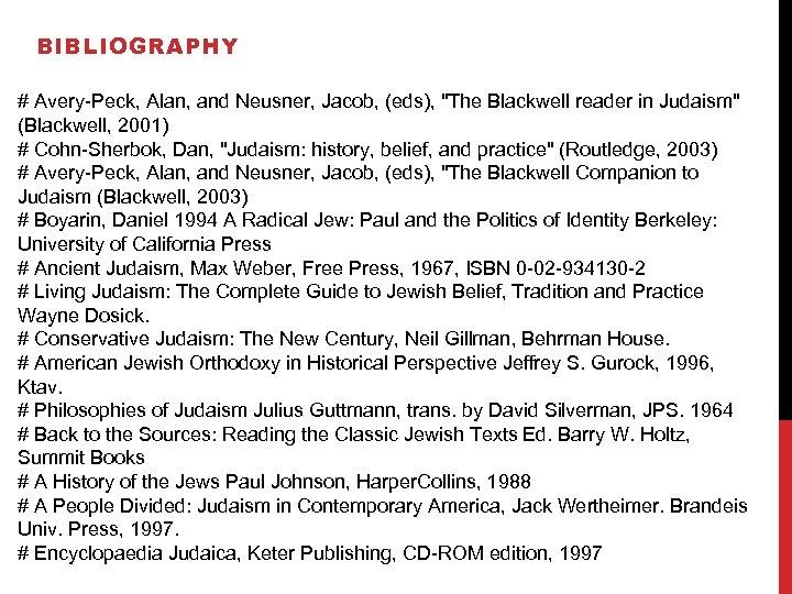 BIBLIOGRAPHY # Avery-Peck, Alan, and Neusner, Jacob, (eds),