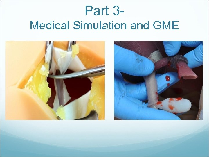 Part 3 Medical Simulation and GME