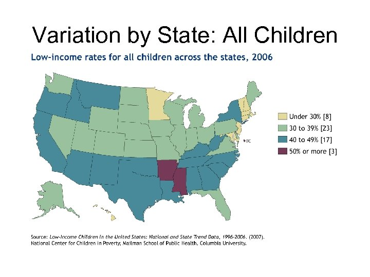 Variation by State: All Children