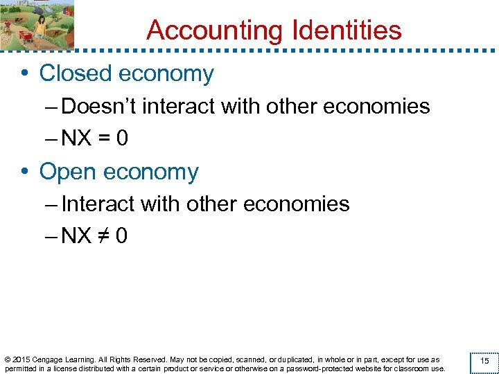 Accounting Identities • Closed economy – Doesn't interact with other economies – NX =