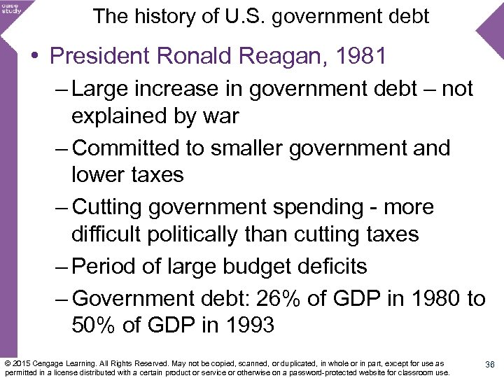 The history of U. S. government debt • President Ronald Reagan, 1981 – Large