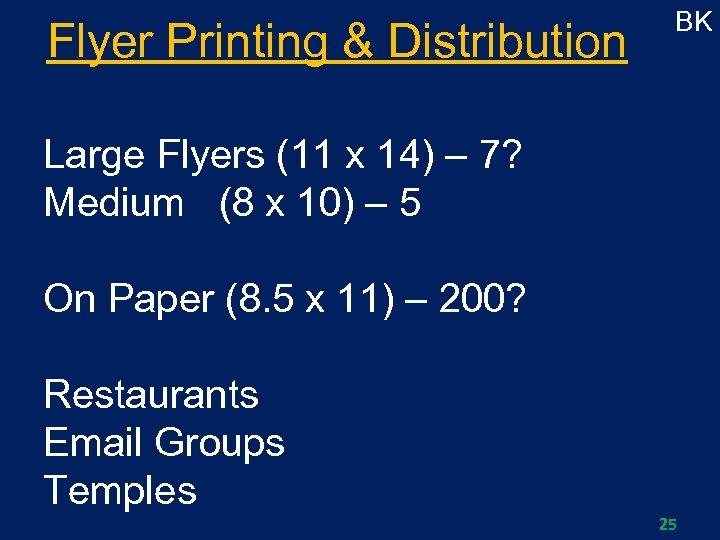 Flyer Printing & Distribution BK Large Flyers (11 x 14) – 7? Medium (8