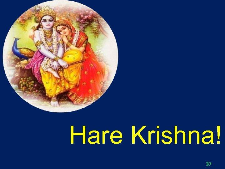 Hare Krishna! 37