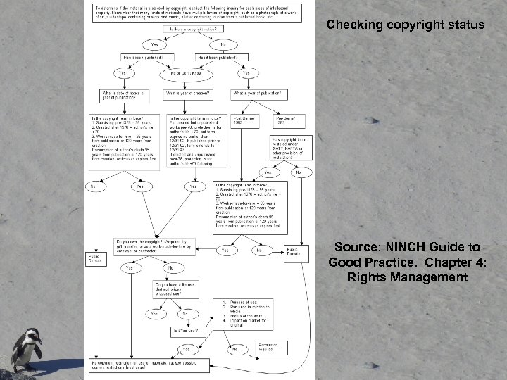Checking copyright status Source: NINCH Guide to Good Practice. Chapter 4: Rights Management