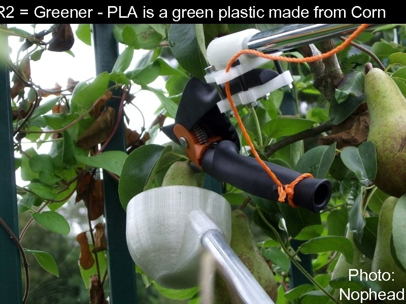 R 2 = Greener - PLA is a green plastic made from Corn Photo: