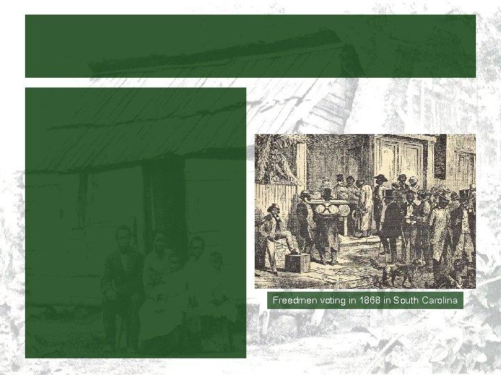 Freedmen voting in 1868 in South Carolina