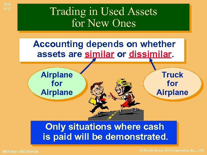Slide 9 -33 Trading in Used Assets for New Ones Accounting depends on whether
